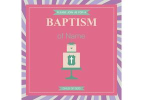 Baptism Card Vector