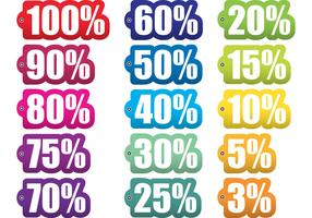 Percent Off Tag Vectors