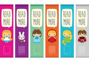 Book Characters Bookmark Vectors