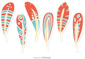 Vector Set Of Feathers