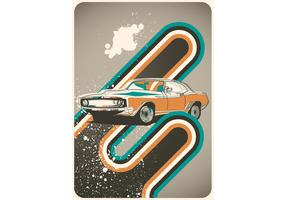 Poster Cars Retro Vector