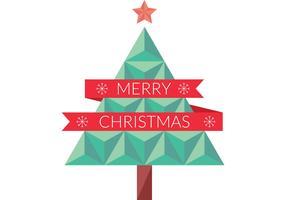 Flat Geometric Christmas Tree Vector