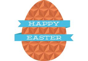 Flat Geometric Easter Egg Vector