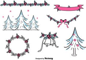 Free Hand Drawn Christmas Decorations