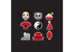 Colorful Chinese Vector Icons