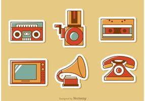 Retro Style Media Vector Pack 1