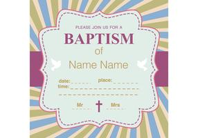 Christening Vector Invitation