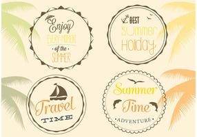 Free Summer Badge Vectors