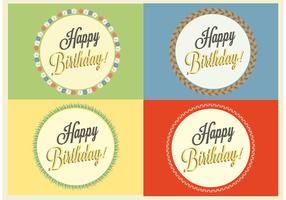 Free Happy Birthday Vector Badges