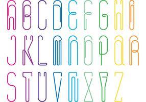 Paper Clip Alphabet Vector pack