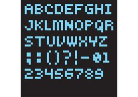 Blue Lego Font Vector