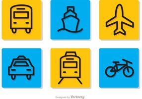Transport Pictograms Sets Vectors