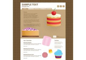 Food Blog Vector Template 2