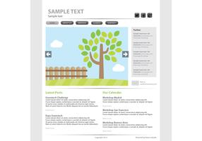 Eco Web Page Vector Template