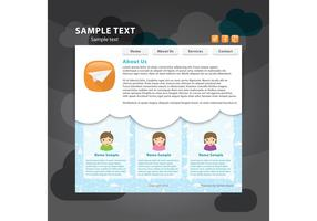 Social Web Page Vector Template