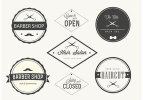 Trendy Barber Shop Labels