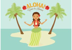 Free Polynesian Hula Female Dancer Vector