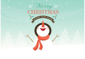 Free Vector Snowman Christmas Background