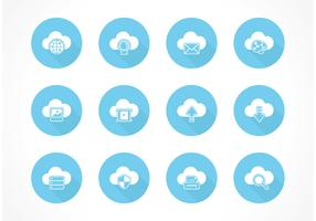 Free Cloud Computing Vector Icons