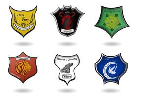 Game of Thrones Vectors with Coats of Arms