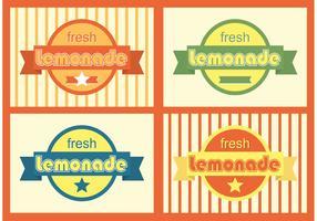 Retro Lemonade Badges