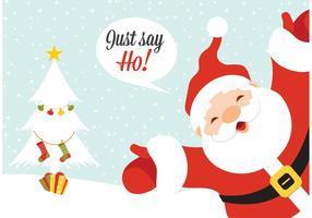 Free Vector Santa Claus Greeting Card