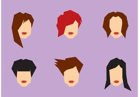 Free Women Hairstyle Vector set