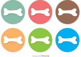Dog Bone Icons Vector