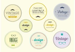 Hip Vintage Badge Set