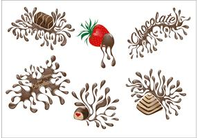 Set of Chocolate Drip Desserts