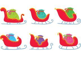 Free Hand Drawn Santa's Sleigh Vectors