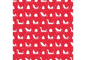 Free Santa's Sleigh Seamless Pattern