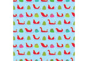 Colorful Santa's Sleigh Vector Seamless Pattern