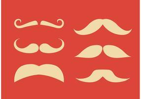 Flat Mustache Vectors