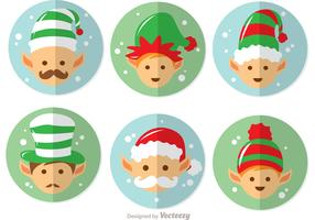 Cartoon Santas Elves Vector Pack