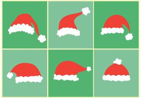 Santa Cap Vector Set