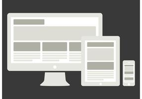 Vector Device Mockups with Responsive Website