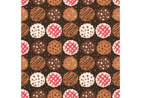 Free Chocolate Chip Cookies Pattern Vector
