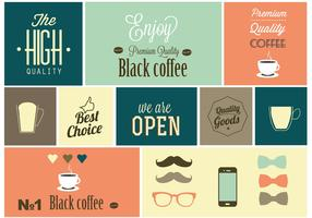 Free Vector Coffee Design Elements