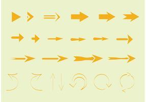Golden Arrow Vectors