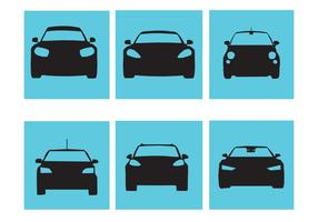 Stylish Car Silhouette Vectors