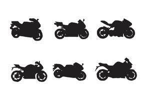 Free Motorcycle Vector Silhouettes Two