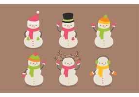 Free Snowman Vector Pack