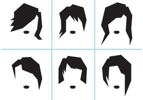 Free Vector Women Hairstyles