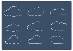 Sketchy Cloud Vectors