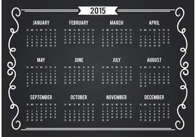 Chalkboard Style 2015 Calendar Card