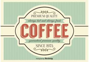 Retro Style Coffe Poster