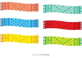 Polka Dot Neck Scarf Vector Pack