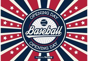 Baseball Opening Day Poster / Background