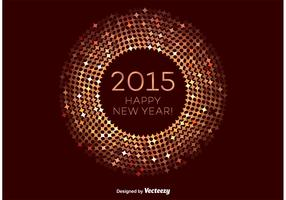 Bronze Happy New Year Vector Frame